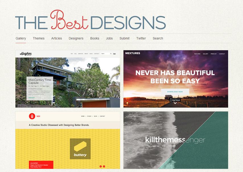 The Best Designs julkaisee kaksi uutta sivustoa päivittäin